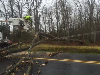 Responding to a downed line