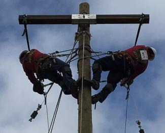 Linemen compete in the 15th annual Lineman's Rodeo in Doswell, Va.