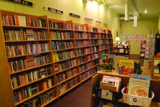 Acorn Books features a large children's section.
