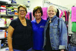 Founder Mary Rio, and volunteers Karen Borges and Kathleen Blouin.