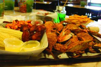 Boondocks serves just about every type of seafood you can imagine.
