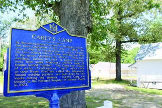 "Officially started in 1888, Carey's Camp began as ""bush"" or ""basket meetings,"" more commonly known today as church revivals, with members of the community camping out in makeshift shelters to hear a variety of different ministers preach the gospel."