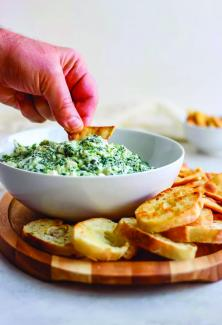 This simple spinach dip is great served with pita chips or crackers.