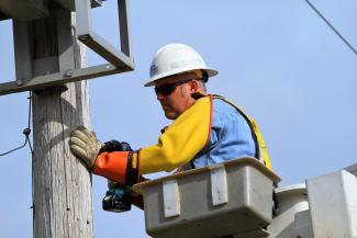 Lineman Working